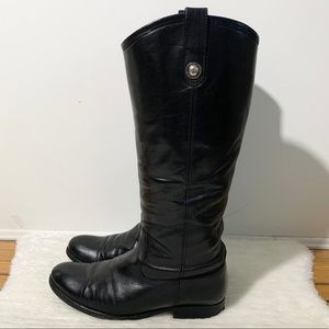 Frye Black Pull On Riding Boots